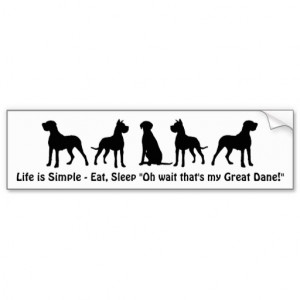 Life is Simple Eat Sleep Great Dane Humour Quote