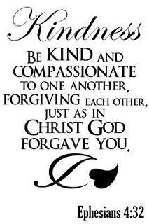 Kindness. BIBLE SCRIPTURE: Ephesians 4:32,