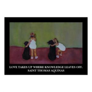 Saint Thomas Aquinas Quote - Poster