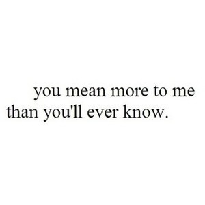 quotes you mean so much to me