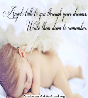 Baby Angel Quotes Angels talk to you through