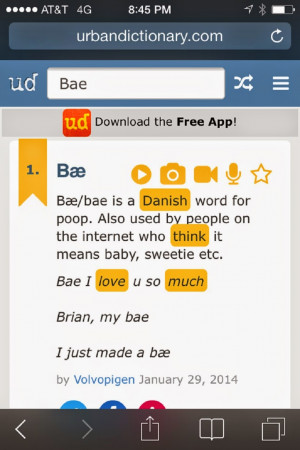 wonder if the girls realize that bae is the Danish word for poop.