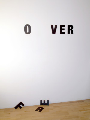 text-installations and text-objects by anatol knotek