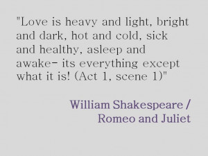 Shakespeare Love Quotes From Romeo And Juliet Shakespeare's romeo and ...