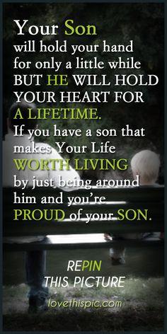 Son love quotes family quote parents son proud lifetime More