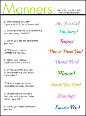 manners quotes | Manners