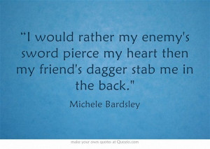 Stabbed in the Back Quotes