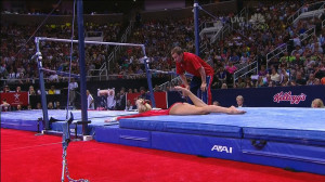 Former Olympic Champion Nastia Liukin Faceplants After Her Dad Fails ...