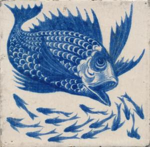 Fish tile by William De Morgan. ~via the De Morgan Centre, FBDe Morgan ...