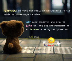 Inspirational Love Quotes Tagalog Bob Ong
