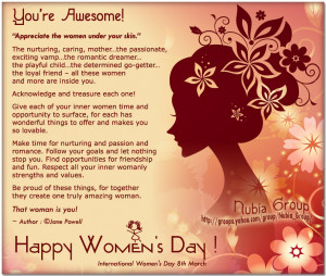 You're Awesome Happy Women's Day