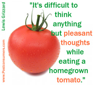 """... pleasant thoughts while eating a homegrown tomato."""" Lewis Grizzard"""