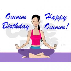 Yoga Birthday Card Greeting