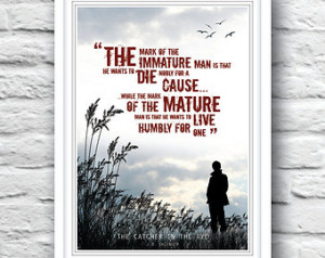 in the Rye, Quote poste r, J.D. Salinger, Wall Decor, Holden Caulfield ...