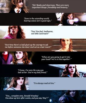 Hermione Granger Hermione Jean Granger (favorite movie quotes)