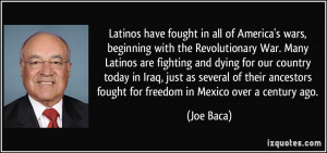 Latinos have fought in all of America's wars, beginning with the ...