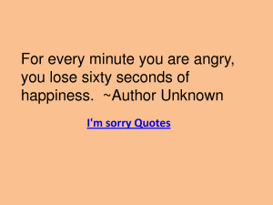 Every Minute You Are Angry 1