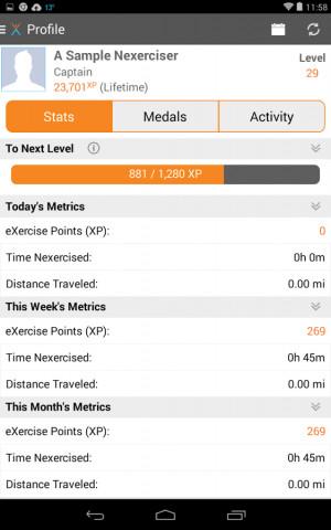 NexTrack: Making Exercise Fun - screenshot