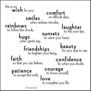 This Is My Wish For You Comfort On Difficult Days - Friendship Quote