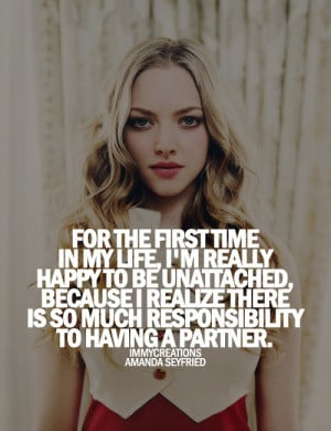 Amanda seyfried, quotes, sayings, life, happy