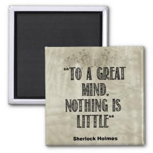 Sherlock Holmes Quote Fan Magnet