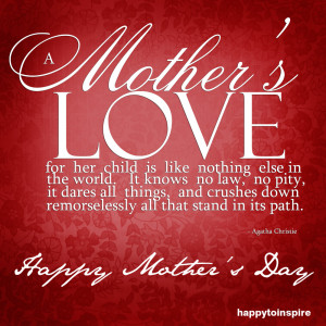 and then there was a Mother's love like no other, an example that has ...