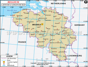 Belgium Latitude and Longitude Map