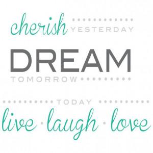 Cherish Dream Live Wall Quote