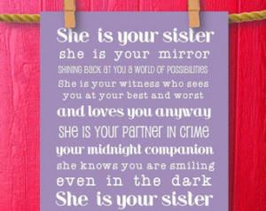 Sister Gift Teen Room Decor, Girl Room, Teenager Room Decor, Gifts for ...