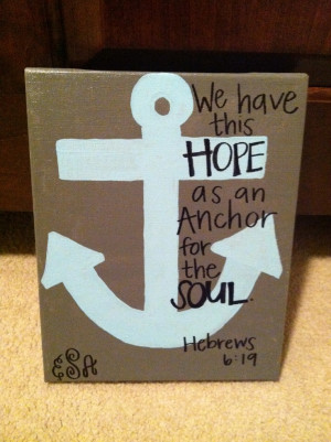 Anchor Bible Verse Canvas Painting!Verses Canvas, Canvas Paintings ...