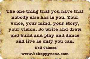 writer's quote: write your own story
