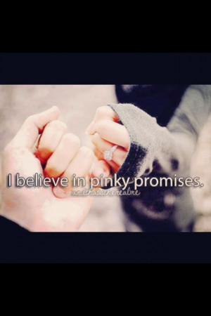 Pinky promise xo