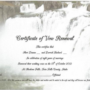 We helped a couple who renew their wedding vows in a different state ...
