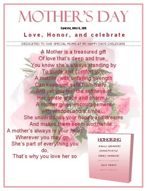 Mother's Day Poem. May 8, 2011