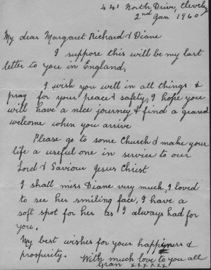 rare letter from my great gran, Mary (Taylor) Nelson to my mother ...