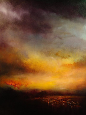 source http www saatchionline com art painting oil lake at sunset ...