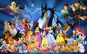Wallpaper - Fond d'écran - Disney - Tous les personnages