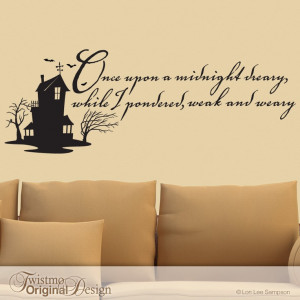Vinyl Wall Decal Edgar Allan Poe Quote The Raven by Twistmo...I want ...