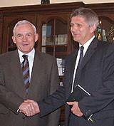 Leszek Miller and Marek Belka photo CTK