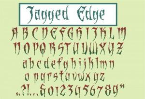 Jagged Edge Font