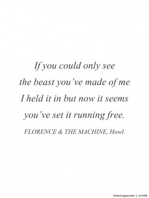 & The Machine, Howl.LISTEN TO AUDIO.About the song: Florence Welch ...