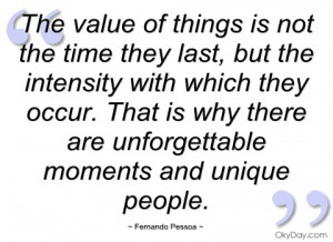 the value of things is not the time they fernando pessoa