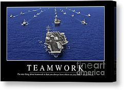Teamwork Inspirational Quote Canvas Print by Stocktrek Images