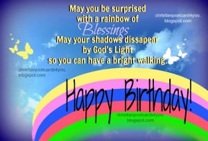 Birthday Blessings Christian Card. Free christian quotes, free images ...