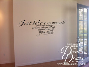 ... Yourself, Pretend you do, YOU WILL, Venus Williams Quote, Vinyl Wall