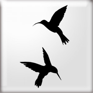 Silhouette Bird Stencil Template Printable