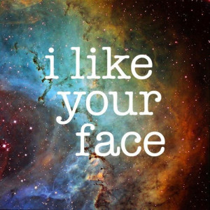 face, love, quote, space, stars, text
