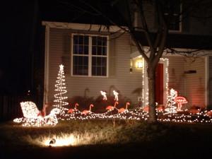 Because nothing says Christmas like yard flamingos pulling a sleigh, I ...