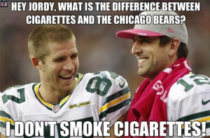 ... , the end. Don't make me bring up Rodgers vs the bears. Isn't pretty