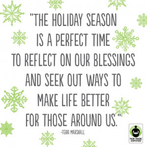 This holiday season, keep in your thoughts those who are less ...